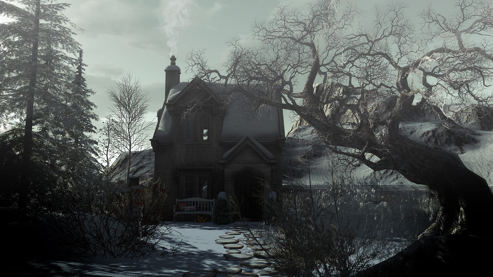 SL Travel: Winter Trace - House by The Lake