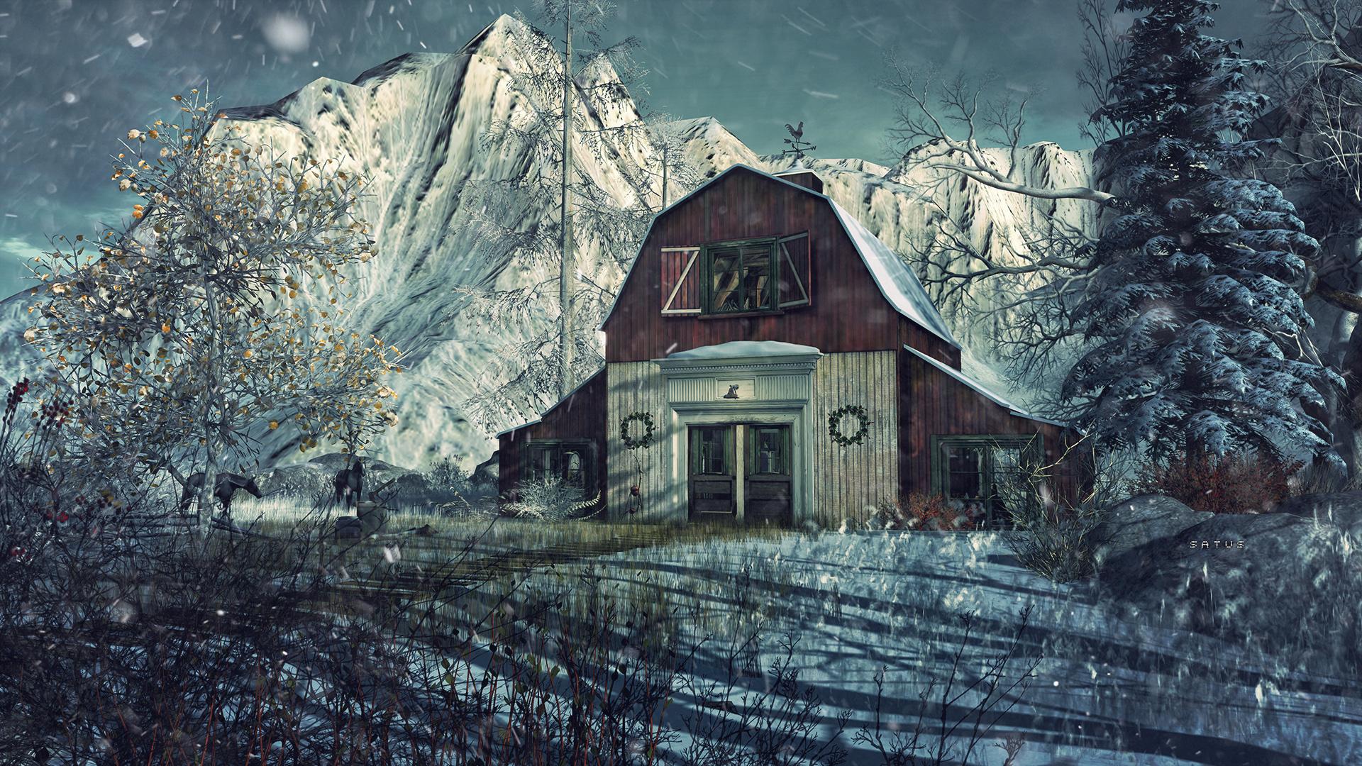 SL Travel: Winter Trace - Barnyard